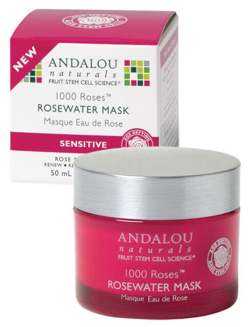 1000 ROSES-Rosewater-Rose Face Mask-Sensitive-Dry Skins-VEGAN, ANDALOU Naturals