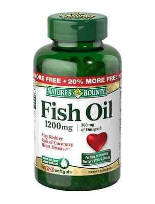 Natures Bounty Fish Oil Omega 3 1200 Mg Softgels 120 Soft Gels