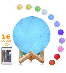 BRAND NEW LED Dimmable Moon Night Lamp (16 Colors)