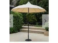 Brand new garden parasol with beads