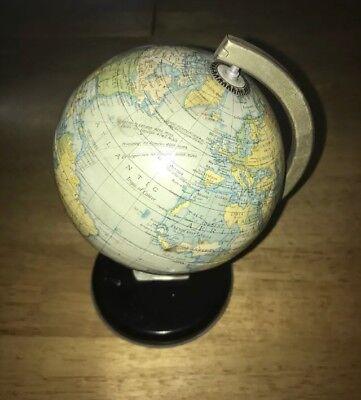 antique Globe Clock 1930's Rare