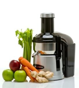 Open Box - Omega MegaMouth Low Speed Juicer in Silver
