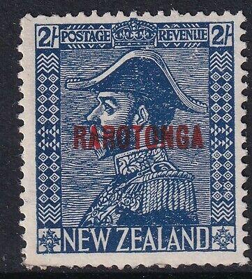 "Cook Islands 1926 KGV ""RAROTONGA"" ovpt 2s deep blue SG90 - mounted mint"