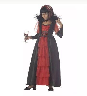 Regal Vampira Kostüm (California Costumes Regal Vampira Costume -Large Plus(10-12) Vampire Dracula NEW)