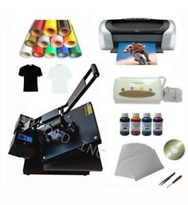 Flat Heat press Machine Vinyl Ink Printer Paper T-shirt Transfer Kit#110298