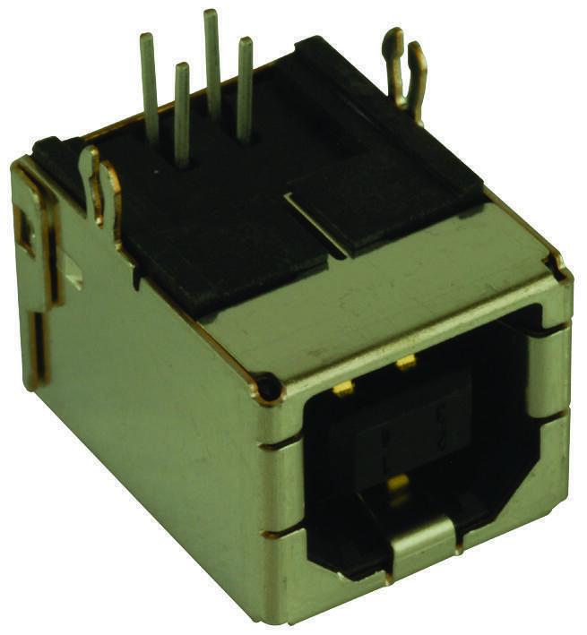 AMPHENOL ICC (FCI)-61729-1010BLF-USB2.0 TYPE BRECEPTACLETH,5PK