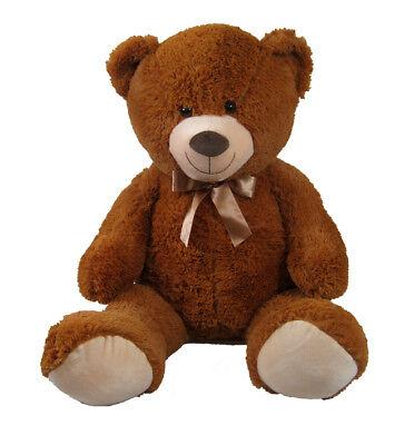 XXL Riesen Kuschel Teddy Plüsch Teddybär braun Stofftier kuschelweich Bär 100 cm