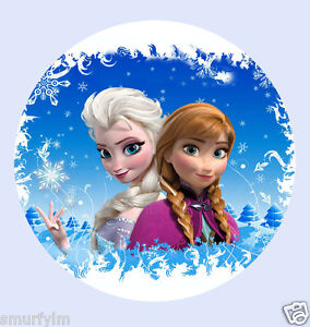 anna and elsa frozen birthday cake toppers on frozen birthday cake edible image