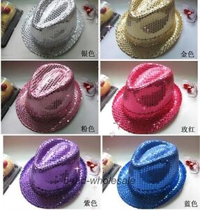 Fashion-Sparkling-Glitter-Sequins-Hat-Show-Party-Dance-Jazz-Hat-Cap