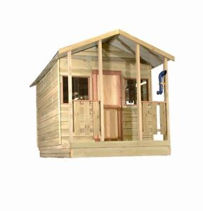 Cubby house bunk house 3 windows elevation kits available for Bunk house kits