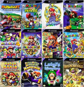 Mario Gamecube Games Je CHERCHE: Jeux Mario sur Gamecube