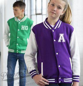 Personalised-Kids-Varsity-Jacket-Childrens-College-Style-Your-Slogan-Name-Text