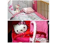 Hello Kitty cot set, light shade and play mat *Immaculate*