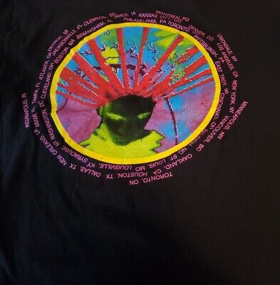 Vintage Authentic Tour Concert T-Shirt Living Colour Black Men s Size L 1980 s - $120.87