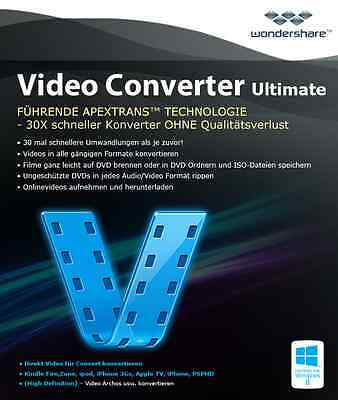 Wondershare Video Converter Ultimate  lifetime dt.Vollvers Download nur 35,99 !! Video Converter