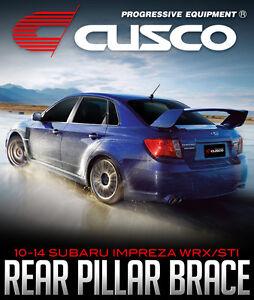 CUSCO Rear Pillar Power Brace: 2010-14 SUBARU IMPREZA WRX/STI