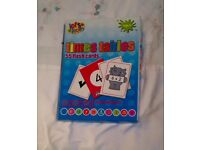 BOXED LET'S LEARN TIMES TABLES 55 FLASH CARDS. COMPLETE AND IN GOOD CONDITION.