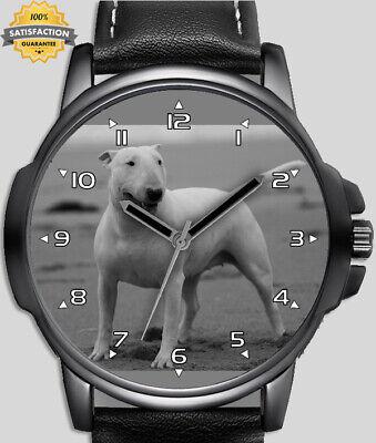 Bull terrier blanc chien de compagnie unique unisexe beau poignet montre gb fast
