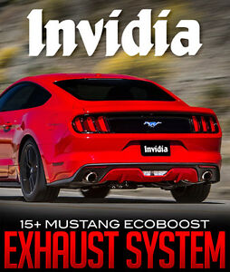Invidia Catback & Catless Downpipe for 15+ Ford Mustang Ecoboost