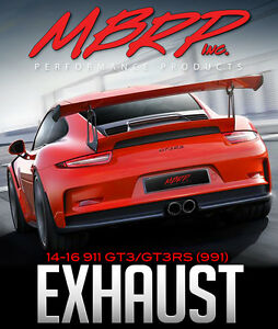 MBRP Center Muffler Bypass Exhaust - 14-16 PORSCHE 911 GT3/GT3RS