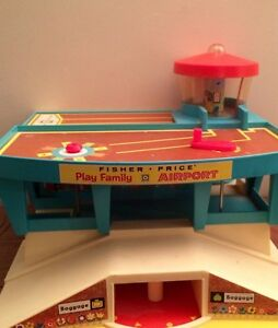 Vintage, Antique Fisher Price Play Family Airport