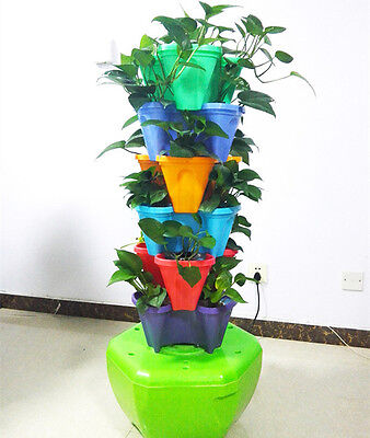 Hydroponic Vertical Planter System grow Planting Kit Great Growing Results ()