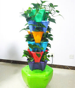 Hydroponic Aeroponic Planting System Tower Growing with Nutrient for good health