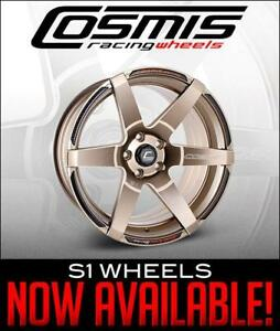 New from Cosmis Racing Wheels, additional sizes and finishes for the S1 wheel! A full list of colors and bore sizes are