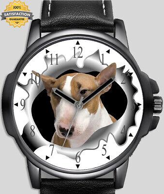 Chien collection bull terrier neuf beau art unique poignet montre rapide gb