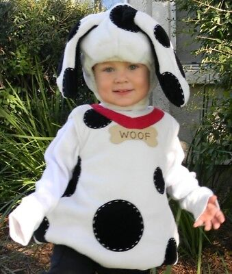 NWOT POTTERY BARN KIDS 0-6 MONTH PUPPY DALMATIAN DALMATION DOG HALLOWEEN COSTUME