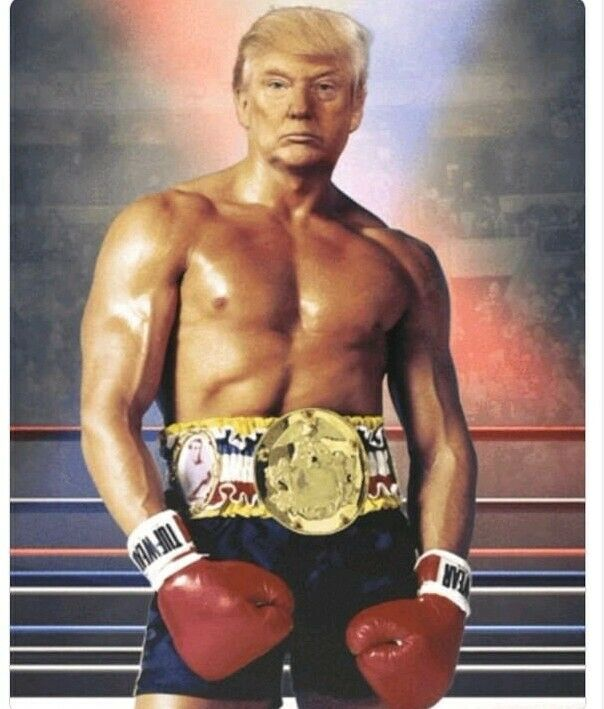 8x10 Rocky President Donald Trump Photo unframed free shipping!!!!