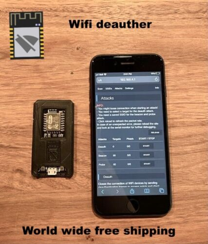 Wifi Deauther - Wifi hacking device - Plug and Play - With 3D Printed Case