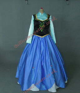 Disney-Frozen-Princess-Anna-costume-adult-SIZE-6-8-10-12-14-16-Anna-dress