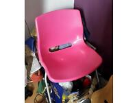 Pink ikea chair