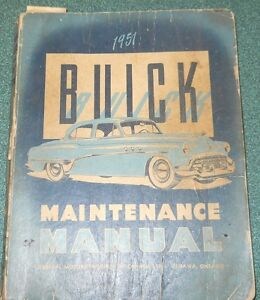 1951 buick factory repair manual.......