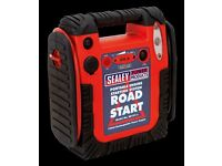 Sealey Road Start Emergency Power Pack 12v 900A Jump Booster With Light RS131