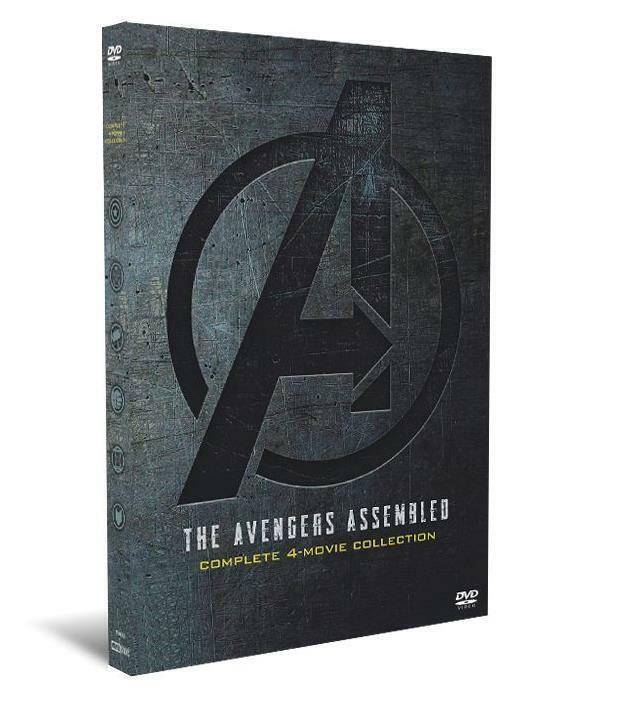 Marvel Avengers 1-4  DVD Complete 4-Movie Collection - Inclu