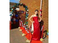 Emily Fox size 10 red dress