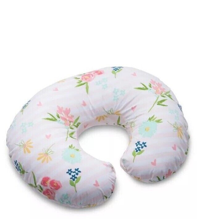 Boppy Nursing Pillow and Positioner Blue Pink Posy