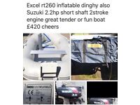 Rubber dingy inflatable boat