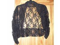 Size 24 Black Lace scrug
