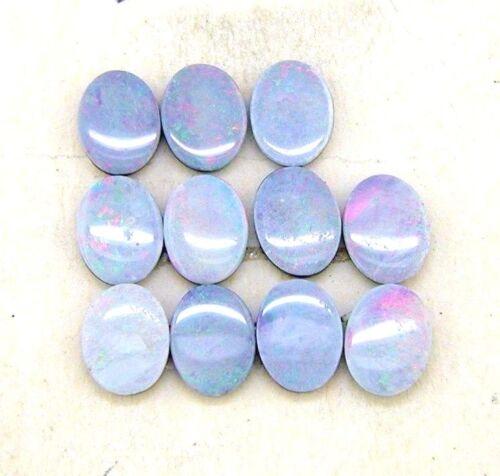 ( 11 ) 8 x 6 Oval Natural Boulder Opal Doublet #136