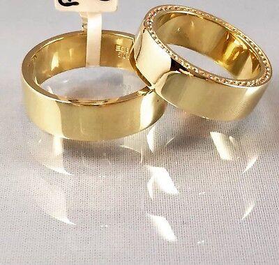 Paarpreis Trauringe Eheringe Partnerringe Verlobungsringe 6.5mm 585 Gold 14karat
