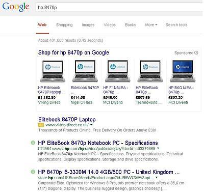 Google the brand and model of machine, to get the cpu model number (an i5-3320M in this case).