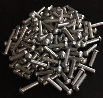 1/8 X 1/2 Round Rivet Solid Stainless Steel Blacksmith Antique 100 Pcs
