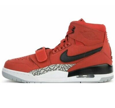 Brand New Air Jordan Legacy 312 Red Black White Mid Leather Shoes Mens -