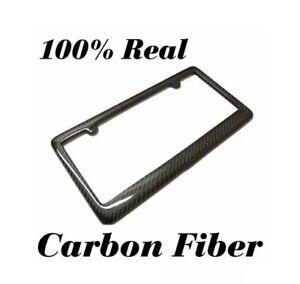 REAL 100% CARBON FIBER LICENSE PLATE FRAME TAG COVER ORIGINAL 3K TWILL JDM /FF