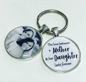 Mother Daughter personalised photo keyring, Mum gift * Mothers Day gifts