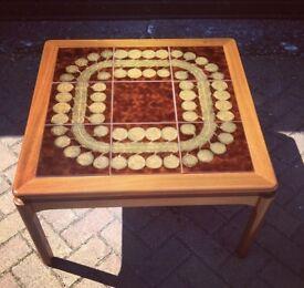 Vintage 60s 70s Nathan teak tile top coffee table mid century retro