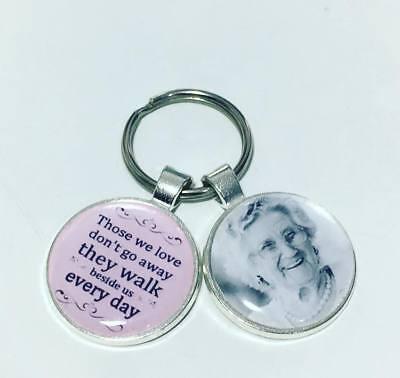 Memory photo keyring Bereavement gifts memorial keyring memory gifts loss gifts